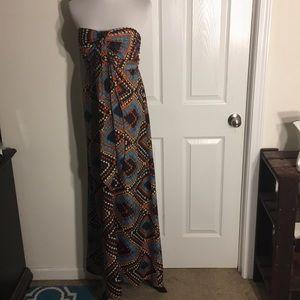 NWOT Xhilaration Colorful Strapless Maxi Dress XL